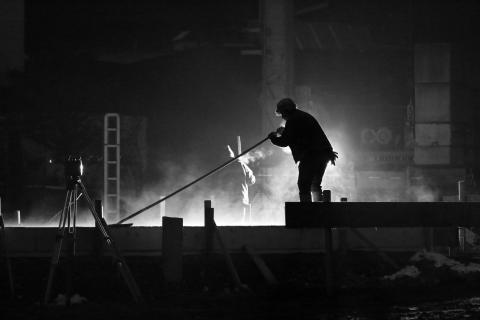 Black & white nightworkers