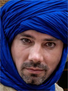 Blauer Turban