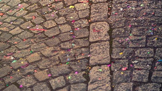 Party auf den Straßen Paris