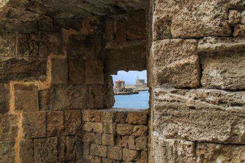 Blick durch die Mauer