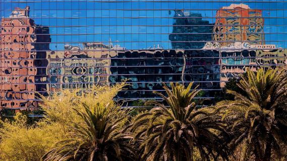 Spiegelung Häuserfront Kapstadt