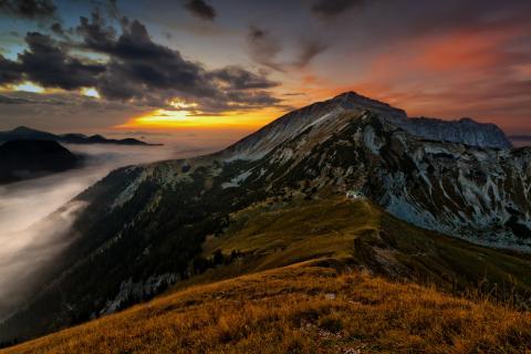 Das letzte Licht im Karwendel