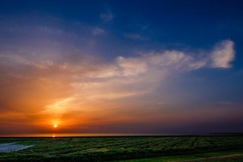 Sonnenuntergang bei Pilsum