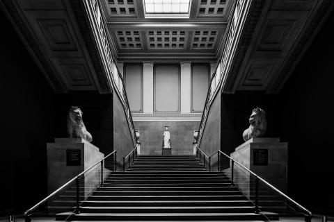 Treppe im British Museum