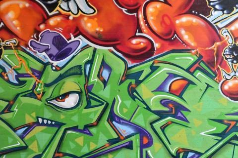 Graffity an der Schlossmauer