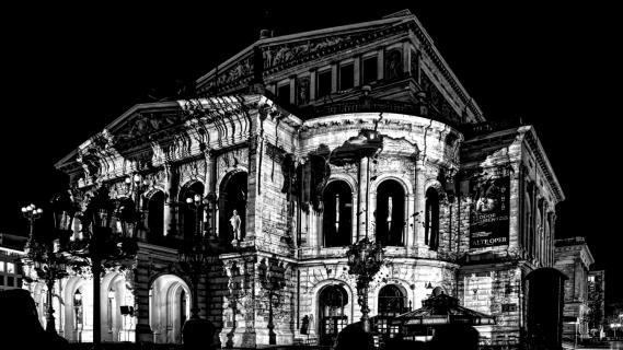 Alte Oper Schwarz/Weiß
