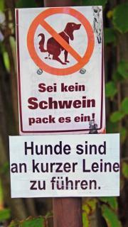 Sei kein Schwein, pack es ein!
