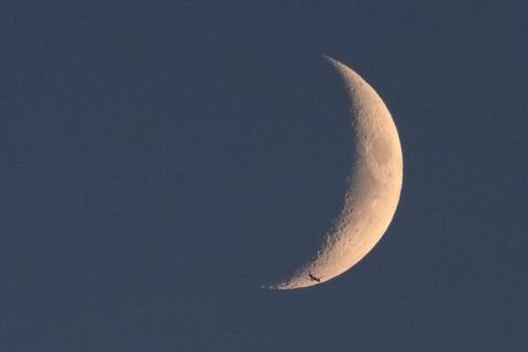 Flugzeug zum Mond