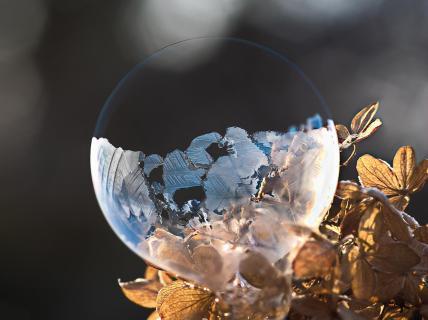 Eisseifenblase