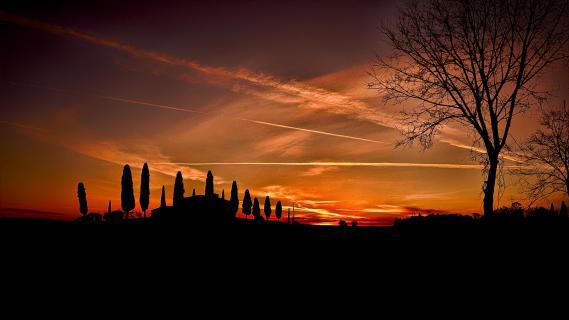 Sonnenuntergang in der Toskana