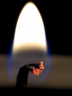 Die Flamme einer Kerze
