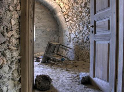 Abrisshaus auf Santorin - Griechenland