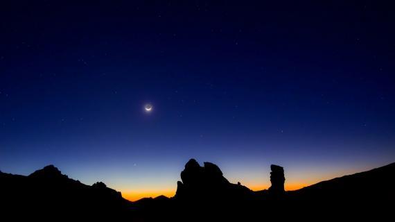 Teide auf Teneriffa bei Nacht