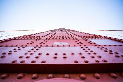 San Francisco Golden Gate Bridge und blauer Himmel