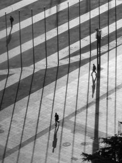 Drei Manner mit Schatten