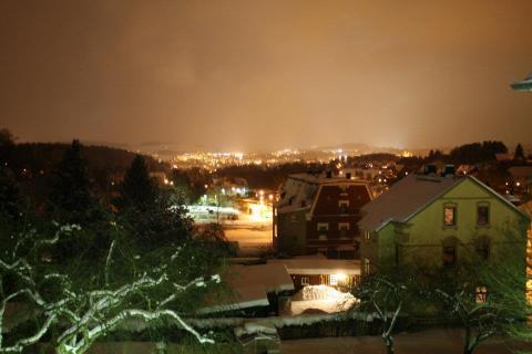 Oelsnitz in einer Winternacht