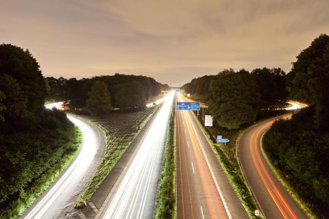 Autobahnbrücke bei Aachen