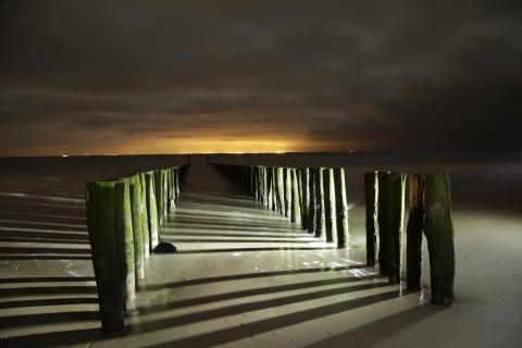 Nachts am Strand von Zoutelande