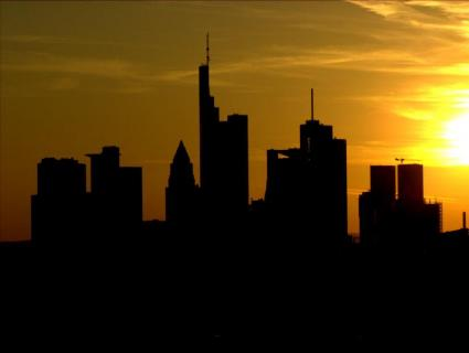 Frankfurt. Sonnenuntergang