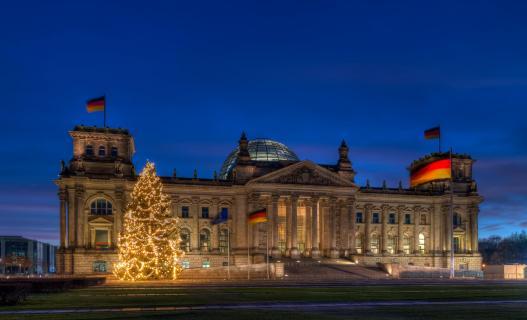 Reichstag zu Weihnachten