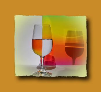 Weinglas 2a m Rahmen
