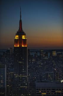 Dämmerung in New York