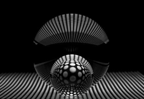 Gekugelt in schwarz/weiß