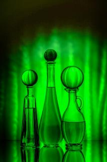 Grünes Stillleben