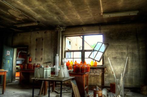 Verlassene Chemiefabrik