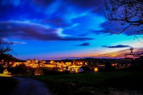 Night over Bad Gleichenberg