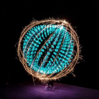 Ein Kreis mit Funken als Schutz