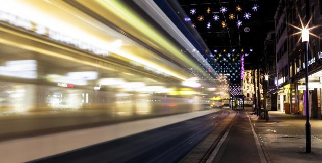 Weihnachtsbeleuchtung Stadt Zürich.