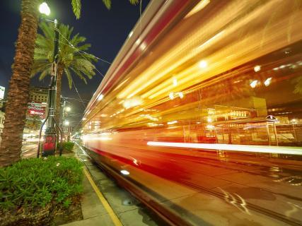New Orleans Tram Reflektion