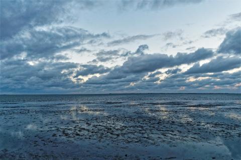 Abendstimmung über dem Wattenmeer