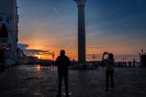 Sonnenaufgang am Markusplatz
