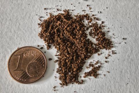 Afrika aus Kaffee