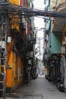 Crazy Straßen in Hanoi, Vietnam