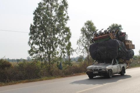 Auf den Straßen von Kambodscha