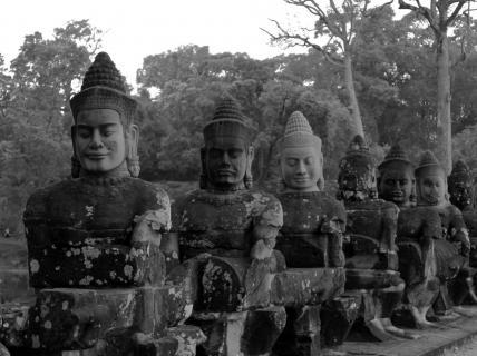 Buddhafiguren in Angkor Wat