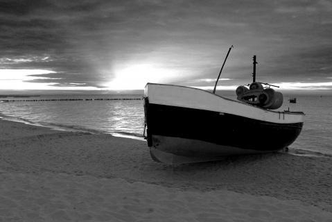 Fischerboot an der polnischen Ostsee