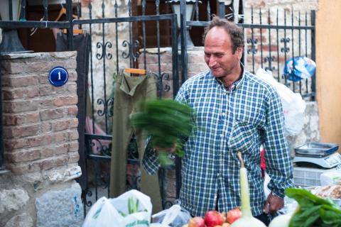 Gemüsehändler in Sigacik
