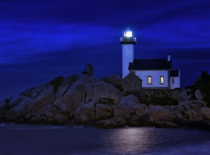 Nachts am Leuchtturm