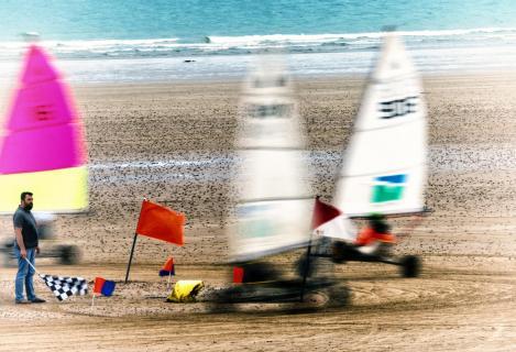 Strandsegler in Action