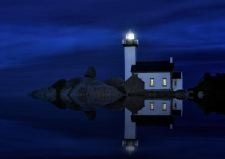 Nachtleben am Meer