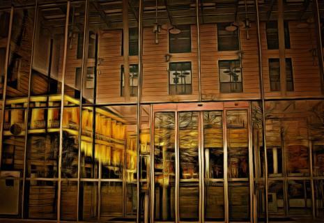 Spiegelung im Glaspalast