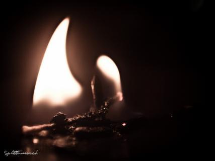 Leere Flamme