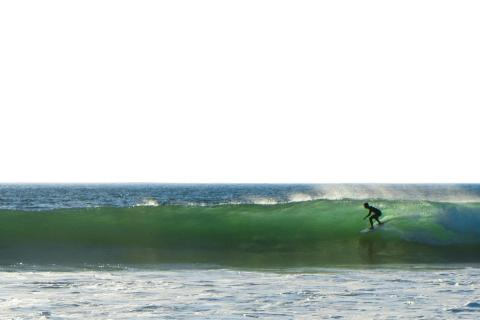 Silhouette-Surfer