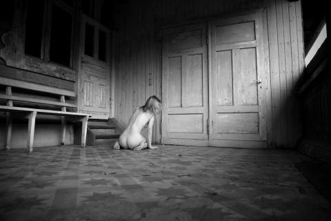 Sitting girl...