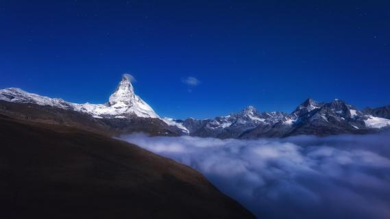 Nebel am Matterhorn