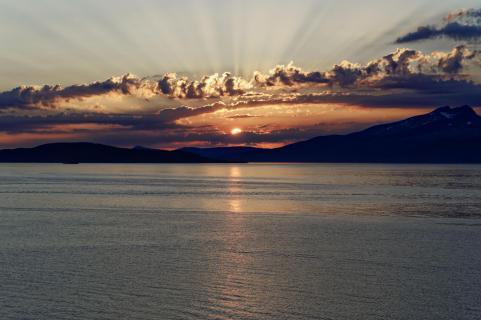 Sonnenuntergang bei Tromsö